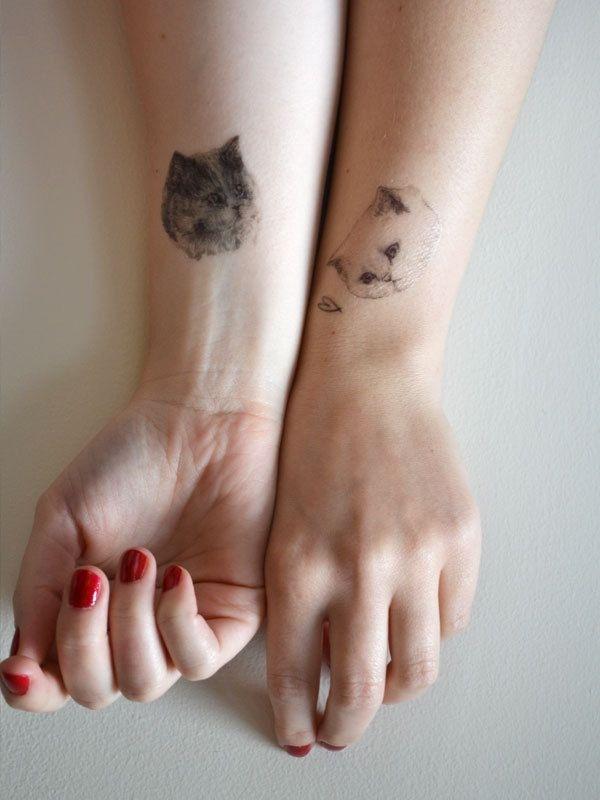 手腕两朵萌猫