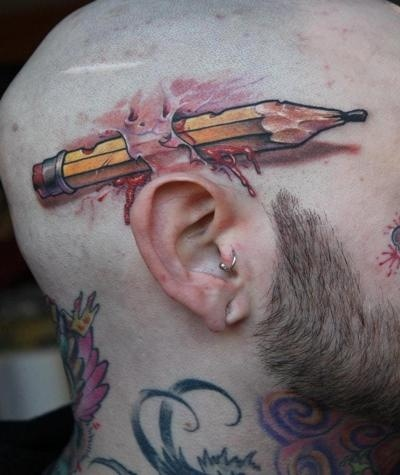 耳朵上的铅笔