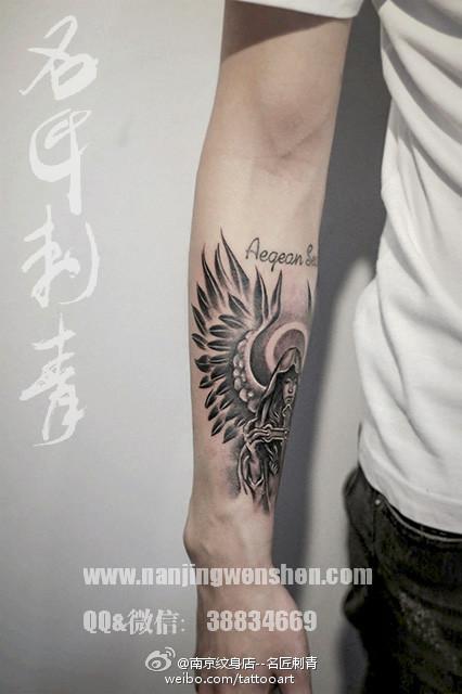 南京纹身名匠刺青路西法堕落天使纹身